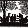 Carte postale - Volksleben_05 - Martha Sachse-Schubert (1890-) - Ausflug ins Grüne - A la campagne