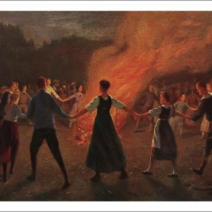 06 - Robert Kämmerer (1870–1950) - Sonnenwendfeuer - Le feu de solstice