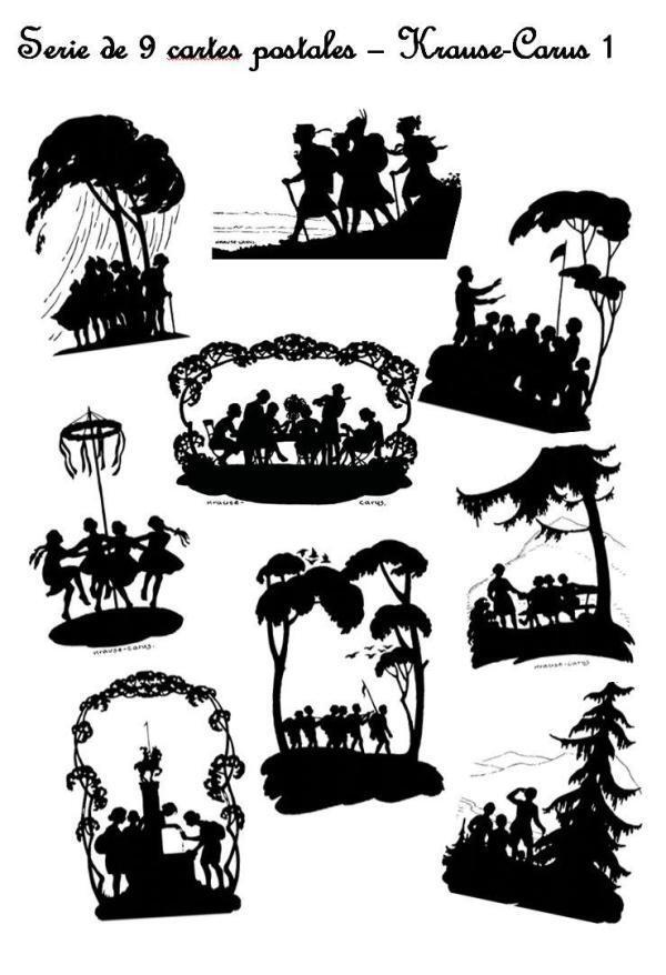 Série de 9 cartes postales – « Wandervogel 03 » – Krause Carus 1