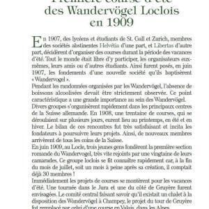 Du Locle au valais - Première course d'été des Wandervögel Loclois en 1909 - Wandervögel Suisses